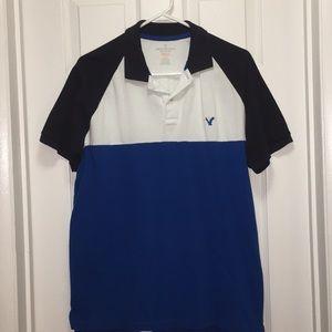 Men's shirt. Blue and white. Size medium.